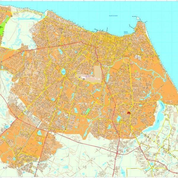 Fortaleza vector map