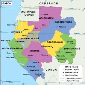 Gabon EPS map