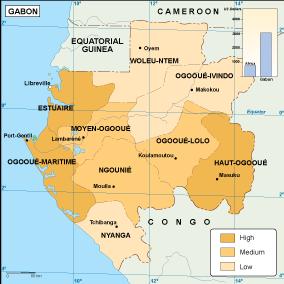 Gabon economic map