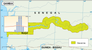 Gambia climate map