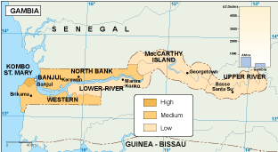 Gambia economic map