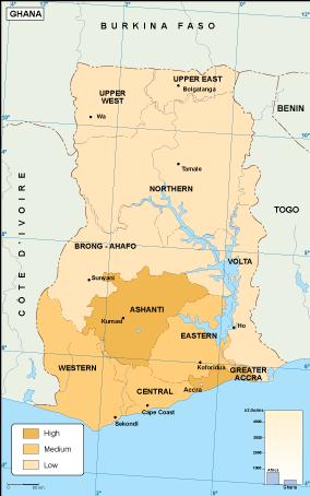 Ghana economic map