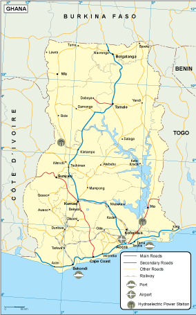 Ghana transportation map