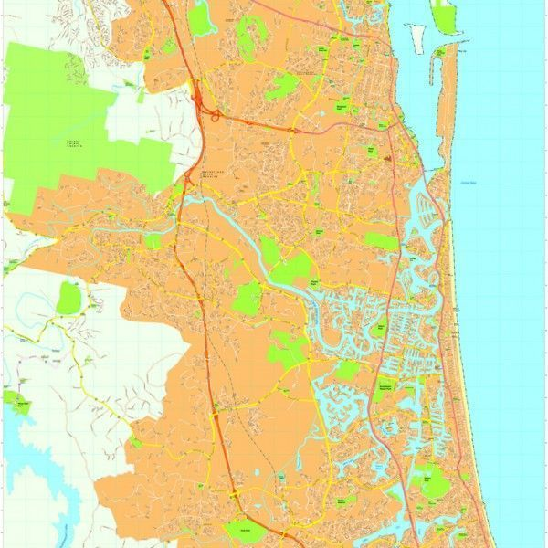 Gold coast Vector Maps