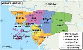 Guinea Bissau EPS map