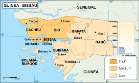 Guinea Bissau economic map