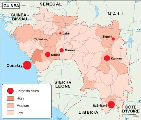 Guinea population map