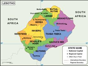 Lesotho EPS map