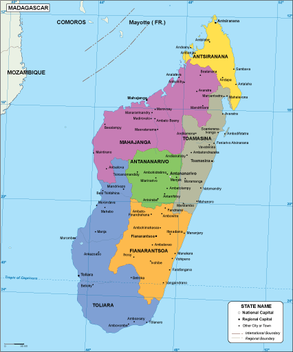 Madagascar EPS map