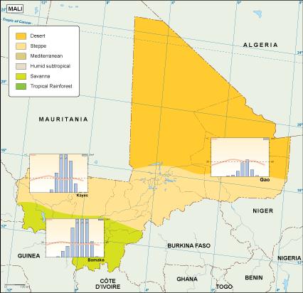 Mali climate map