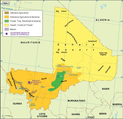 Mali vegetation map