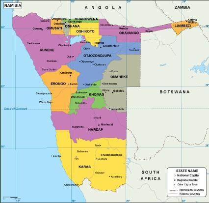 Namibia EPS map