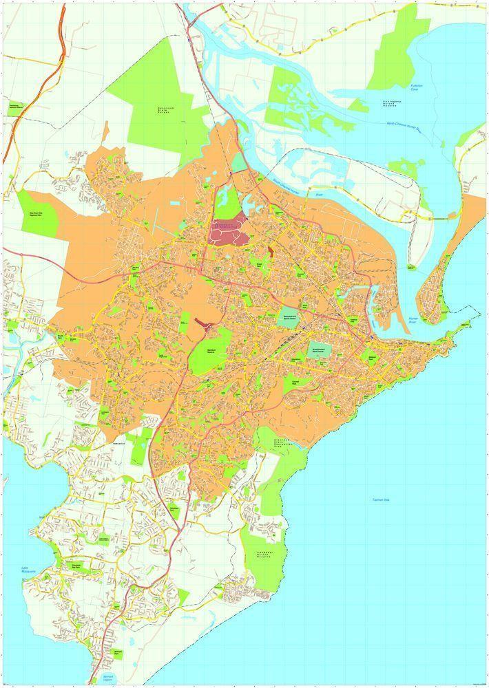 Newcastle Vector Maps EPS Illustrator Map Digital Maps Netmaps