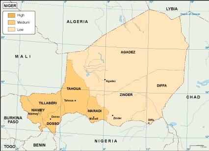 Niger economic map