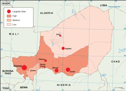 Niger population map