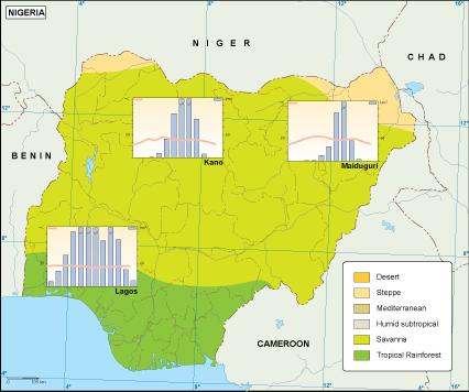 Nigeria climate map