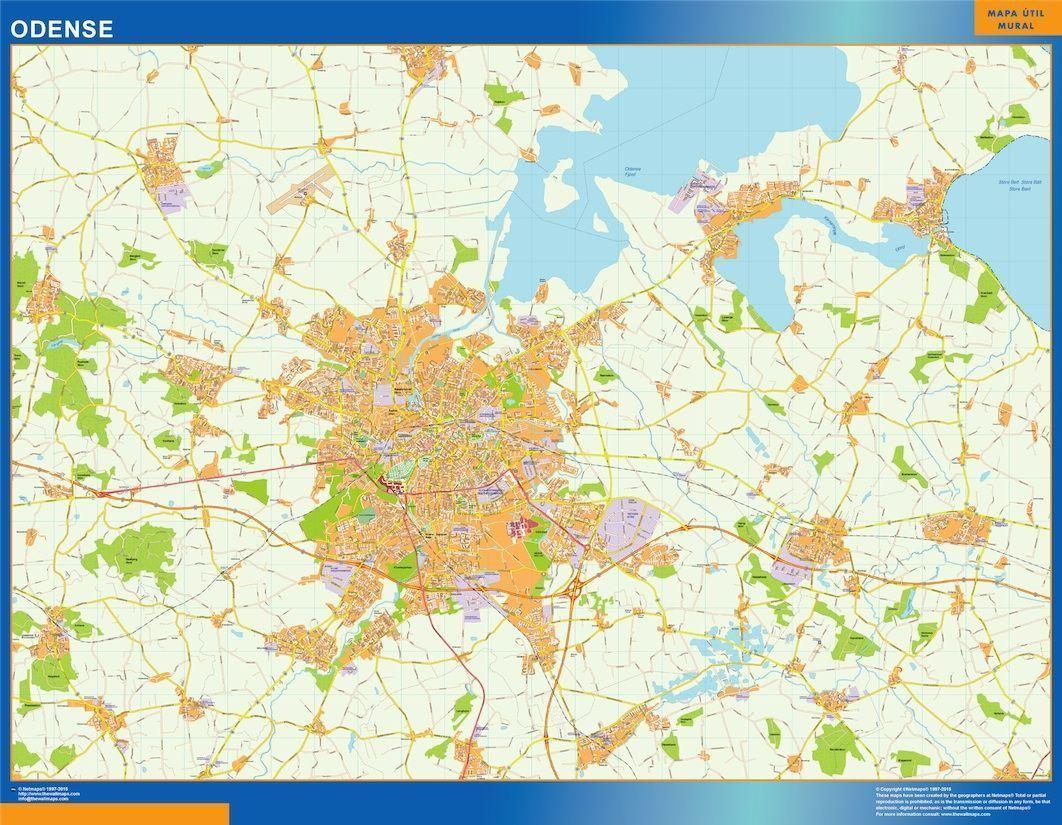 Odense Kort Eps Illustrator Map Digital Maps Netmaps Uk Vector