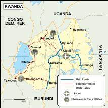 Rwanda transportation map
