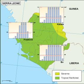 Sierra Leona climate map
