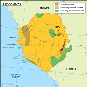 Sierra Leona vegetation map