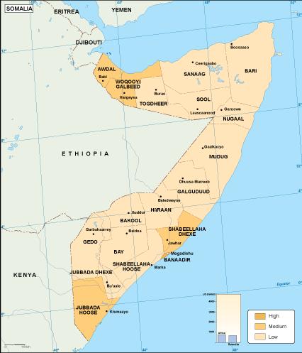 Somalia economic map