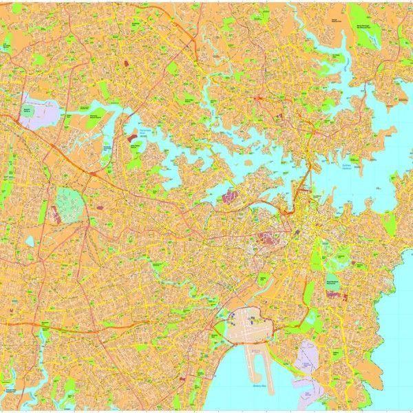 Sydney Vector Maps