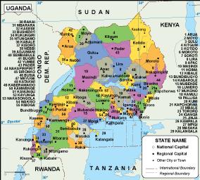 Uganda EPS map