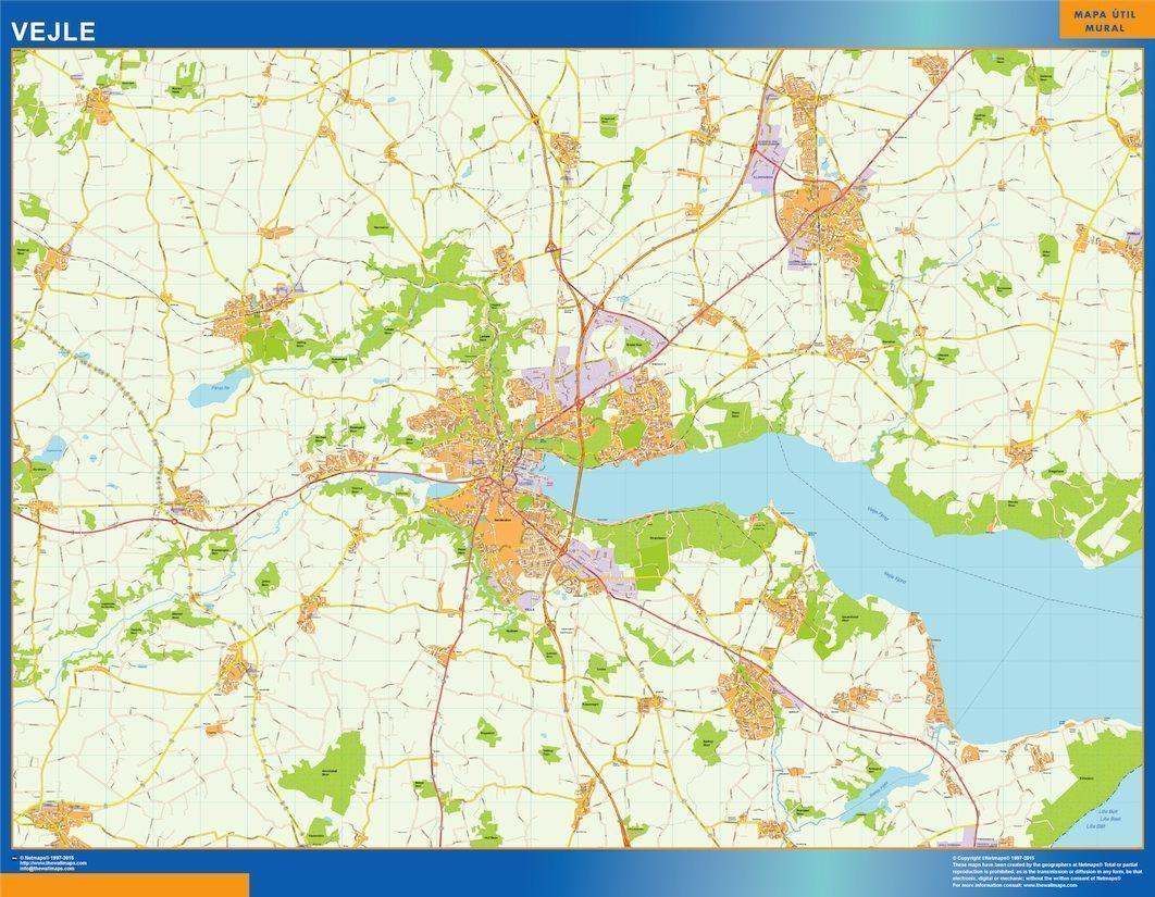 Vejle Kort Eps Illustrator Map Digital Maps Netmaps Uk Vector