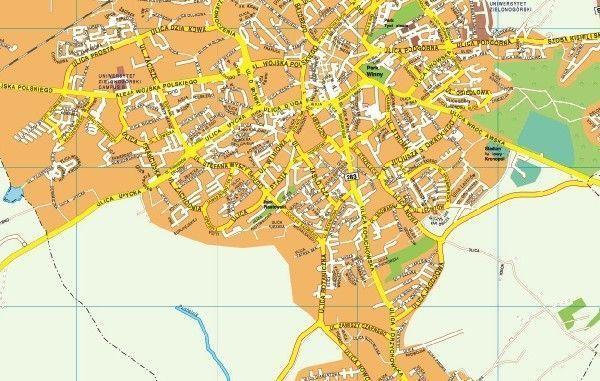 Zielona gora EPS map