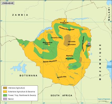 Zimbabwe vegetation map