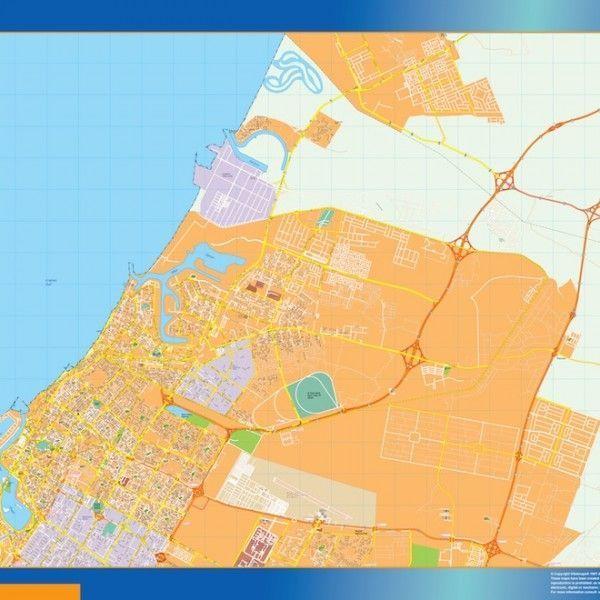 ajman vector map