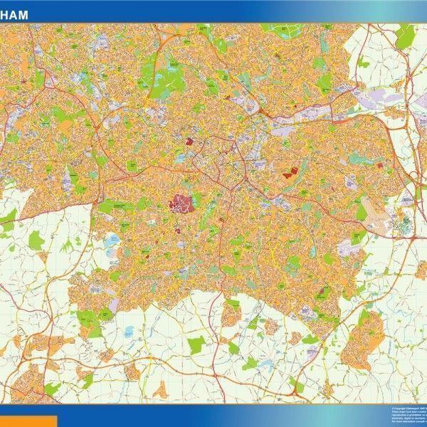 birmingham vector map