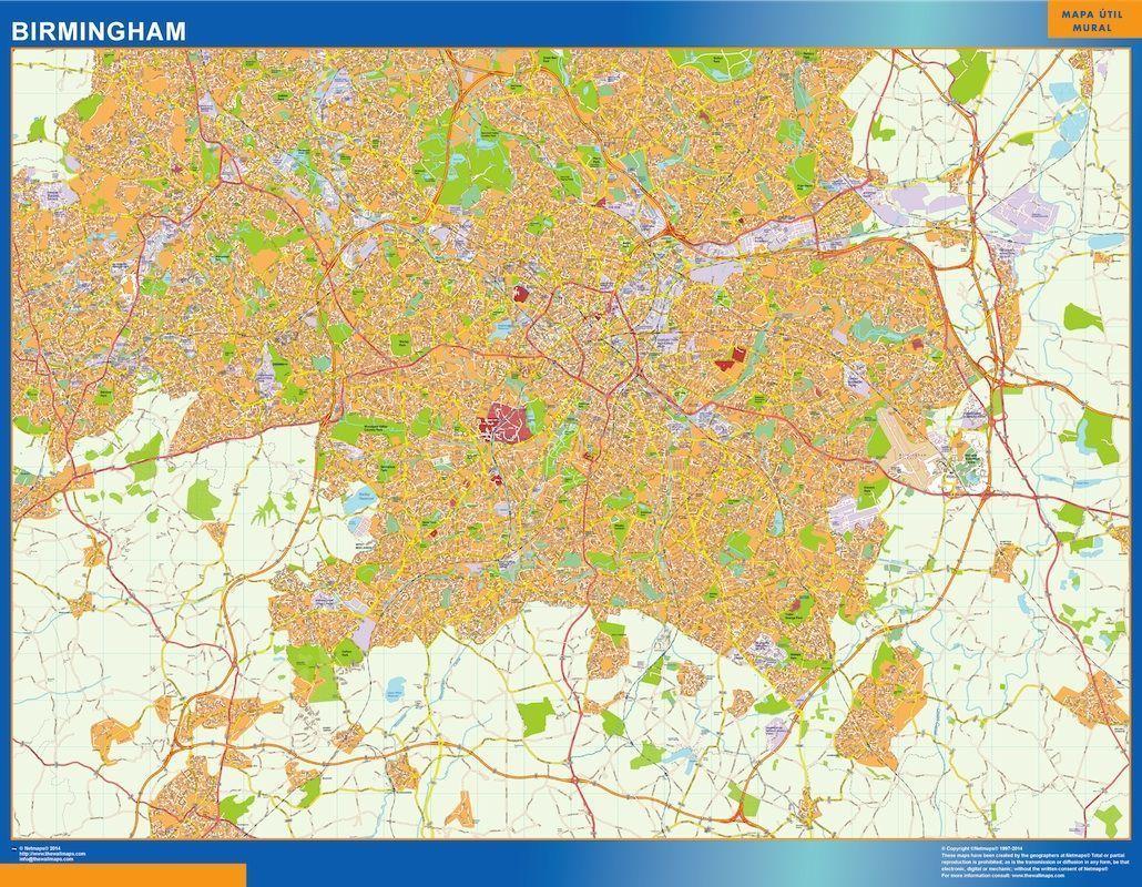Map Of Uk Birmingham.Birmingham Vector Map Eps Illustrator Map Digital Maps Netmaps