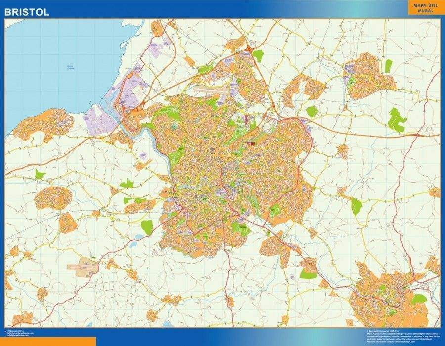 bristol vector map