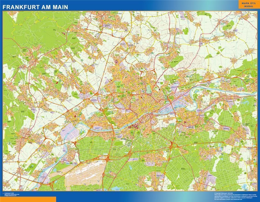 Karte Uk.Frankfurt Am Main Karte Illustrator