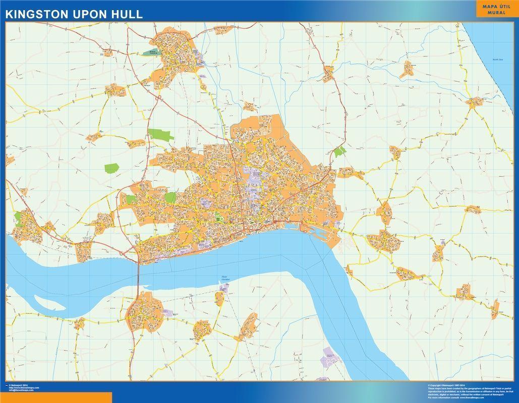 Map Of Uk Hull.Kingston Upon Hull Vector Map Eps Illustrator Map Digital Maps