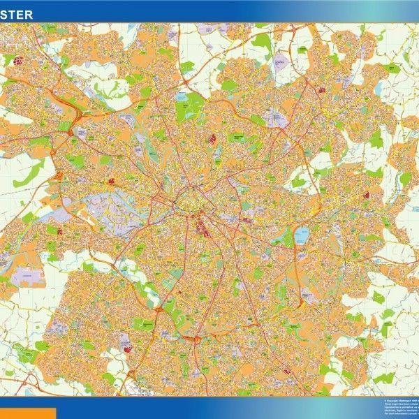 manchester vector map