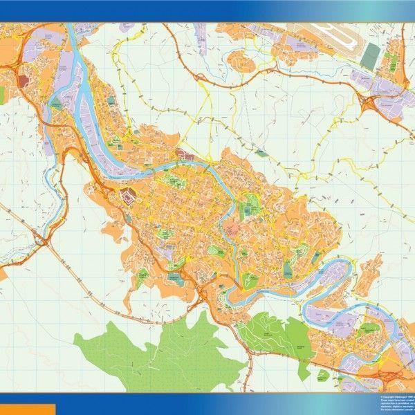 mapa vectorial bilbao
