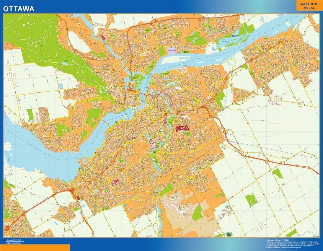 Ottawa On Map Of Canada.Ottawa Vector Map