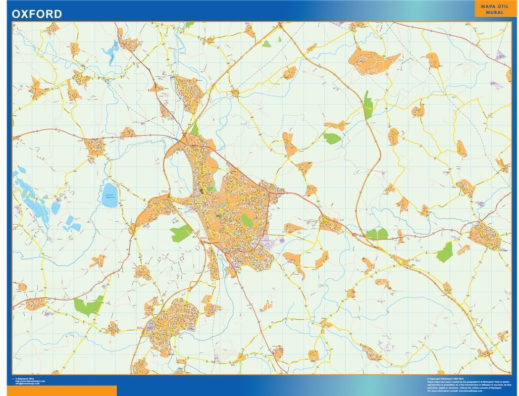 Map Of Uk Oxford.Oxford Vector Map