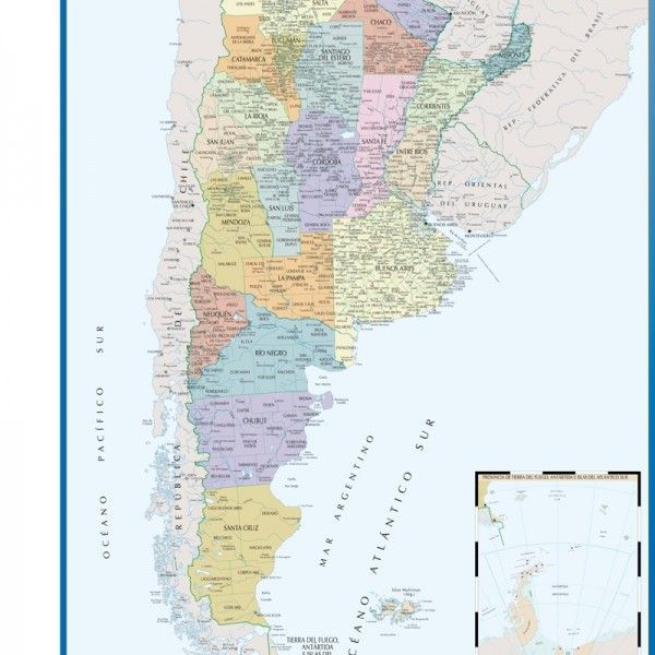 wall map argentina