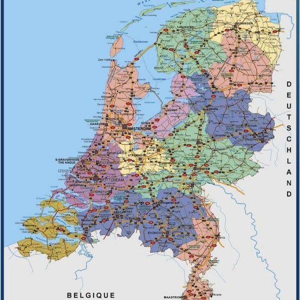 wall map netherlands