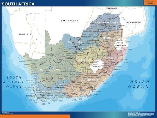 south africa map eps