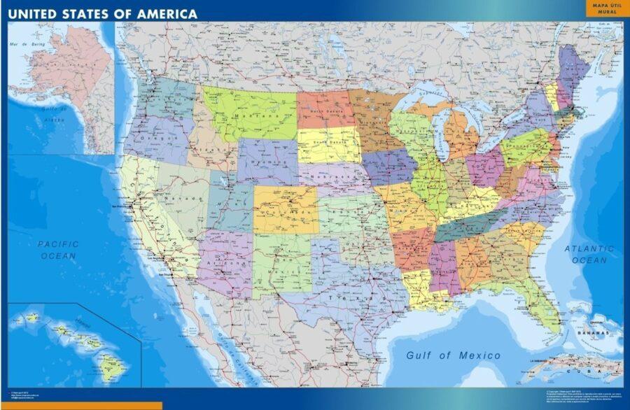 wall map usa