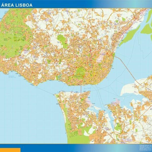 Grande Area Lisboa mapa