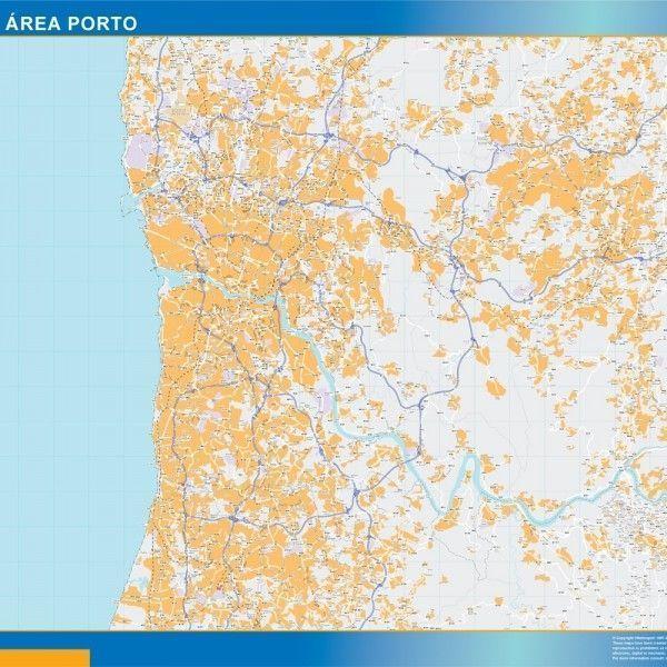 Grande Area Porto mapa