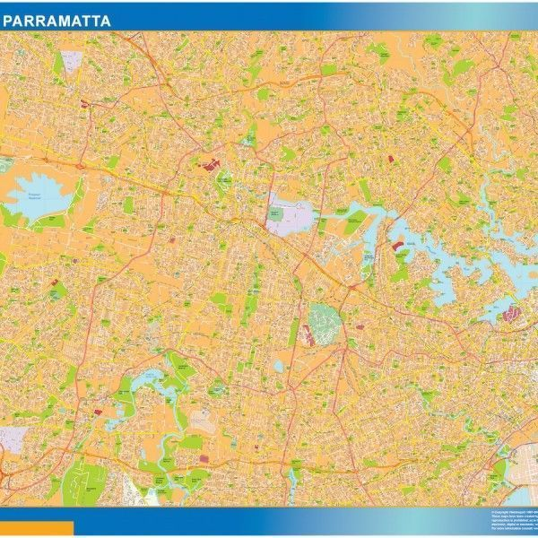 Sydney Parramatta wall map