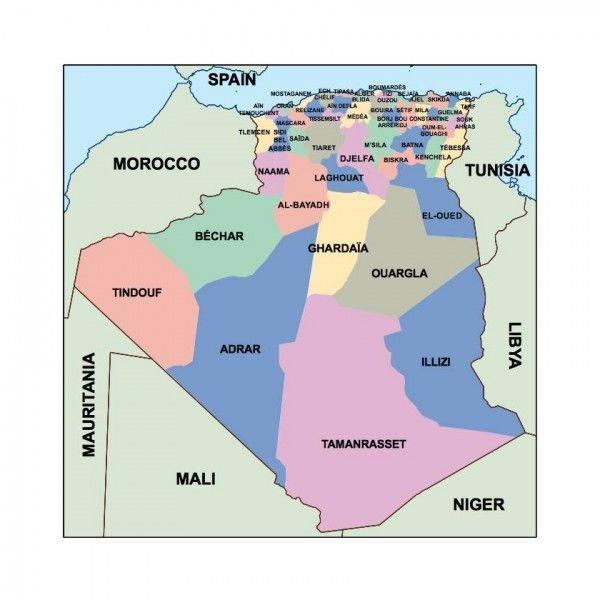 algeria presentation map