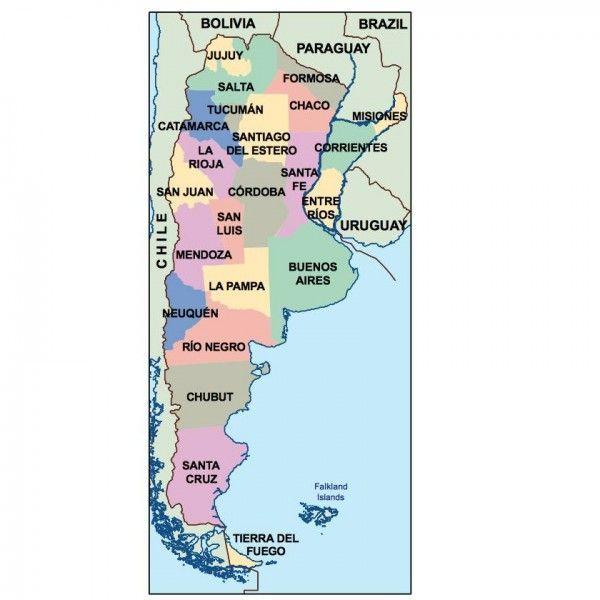 argentina presentation map