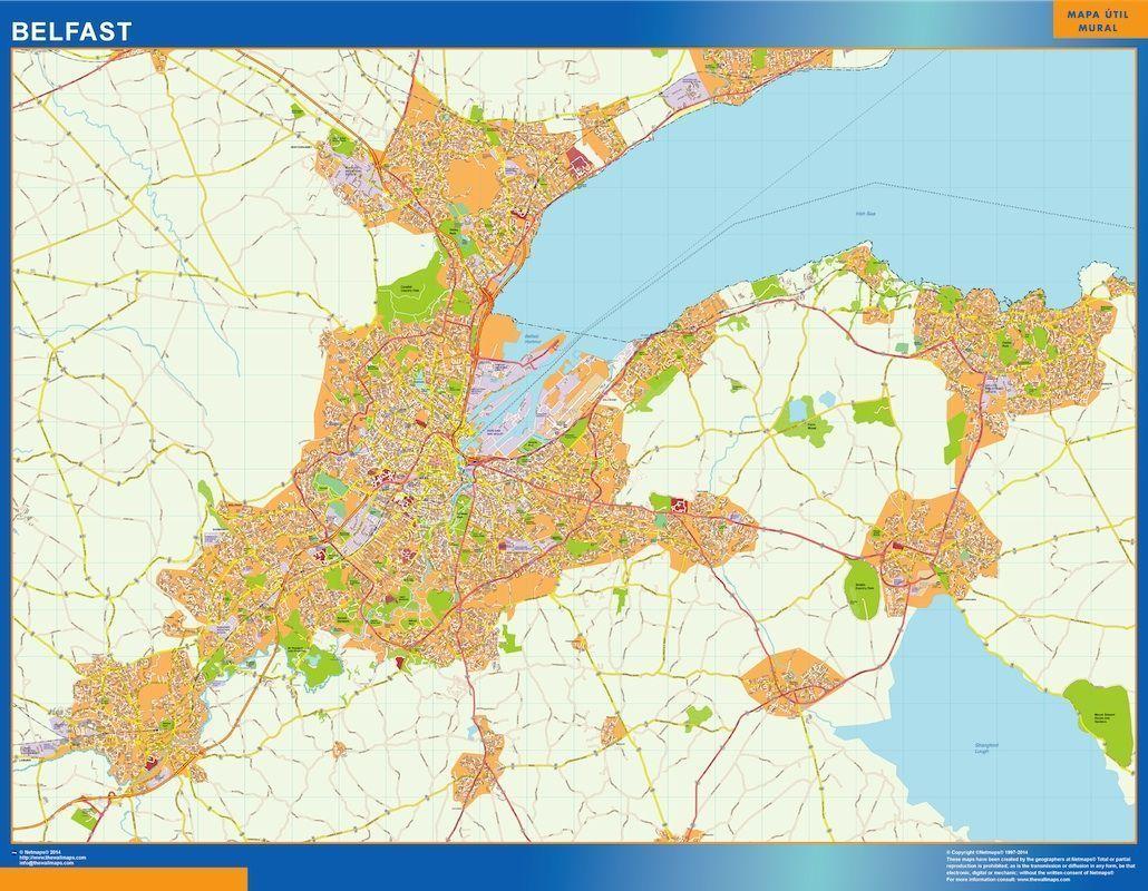belfast wall map | Digital Maps. Netmaps UK Vector Eps & Wall Maps
